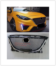 DIAMOND RACING GRILLE FRONT MESH BUMPER MASK ABS GRILL Front Radiator Grills FIT for mazda3 AXELA MA3 2014-2016 AUTO ACCESSORIES racing grills version aluminum alloy car styling refit grille air intake grid radiator grill for citroen c elysee 2014