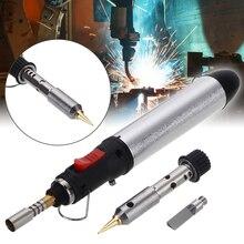 Przenośny akumulatorowy płomień butan narzędzie do tipsów 4 w 1 zestaw żeliwa lutowniczego spawanie Pen Burner 12ML spawanie zestaw lutowniczy