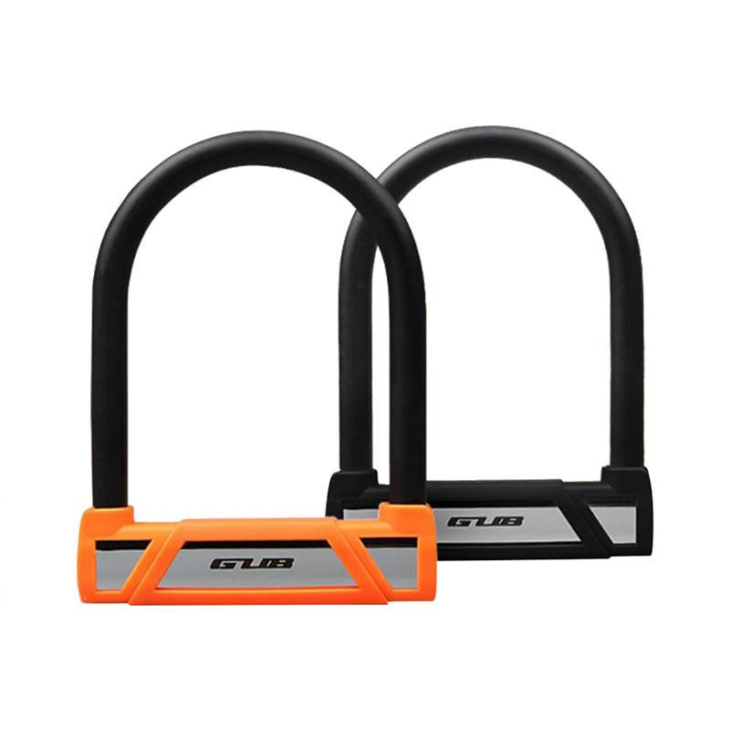 Bike Lock Heavy Duty Anti Theft Bicycle Lock With U Lock Shackle For Outdoor Cycling Bicycle Security (black)