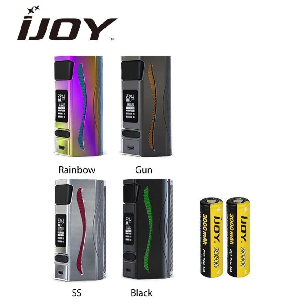 D'origine IJOY GENIE PD270 TC MOD 234 W avec 2x20700 Batteries 6000mA Énorme boîtier d'alimentation Mod e-cig mod 234 W vs Ijoy Shogun JR Mod