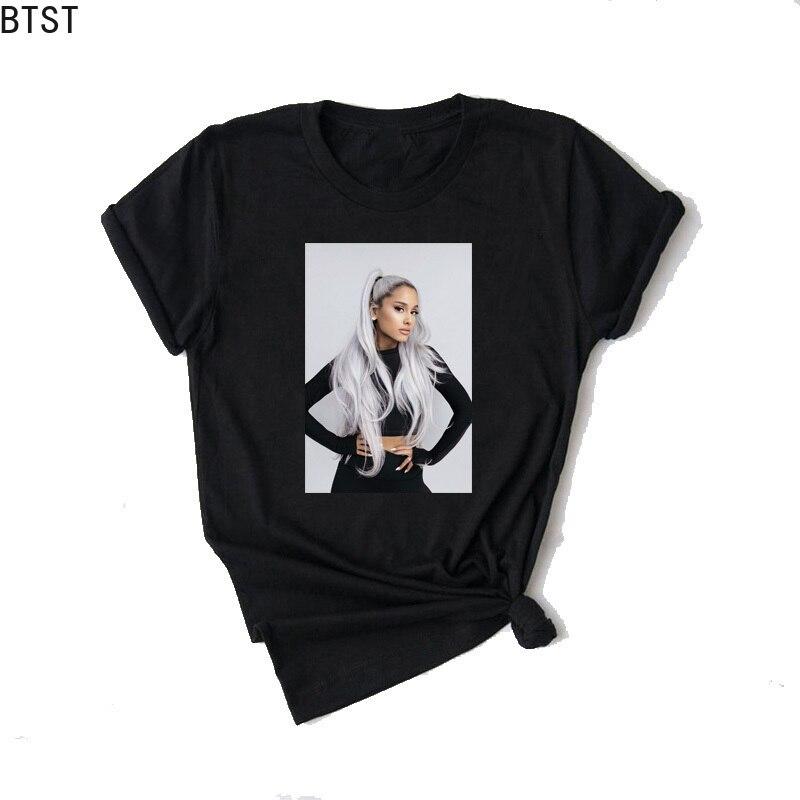 Ariana Grande Print Vogue T Shirt Women Sweetenr No Tears Left To Cry Fashion Graphic Tees Streetwear Vintage Tshirt Summer Tops