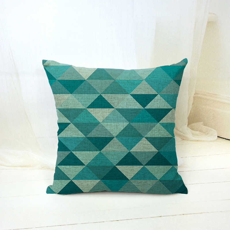 Blue Pillow Covers Living Room: EHOMEBUY Cushion Cover Blue Plaid Pillowcases Cushions For