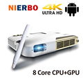 New Electronic Interaction Projector 1080P Full HD 15000mah Battery 8 Core CPU Mini Portable Beamer with Android WiFi Bluetooth