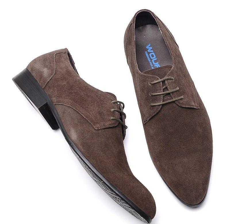 Camurça Lace-up Mens Sapatos Itália Estilo Casual