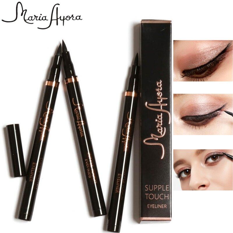 MARIA AYORA Professional 3Colors Smooth Fast Dry Liquid Eyeliner Pencils Black Brown Color Waterproof Eye Liner Makeup Pen Tools