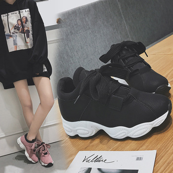 pink sneakers shoes woman trainers women chaussures femmes automne ladies chunky casual off runway fall schoenen vrouw white