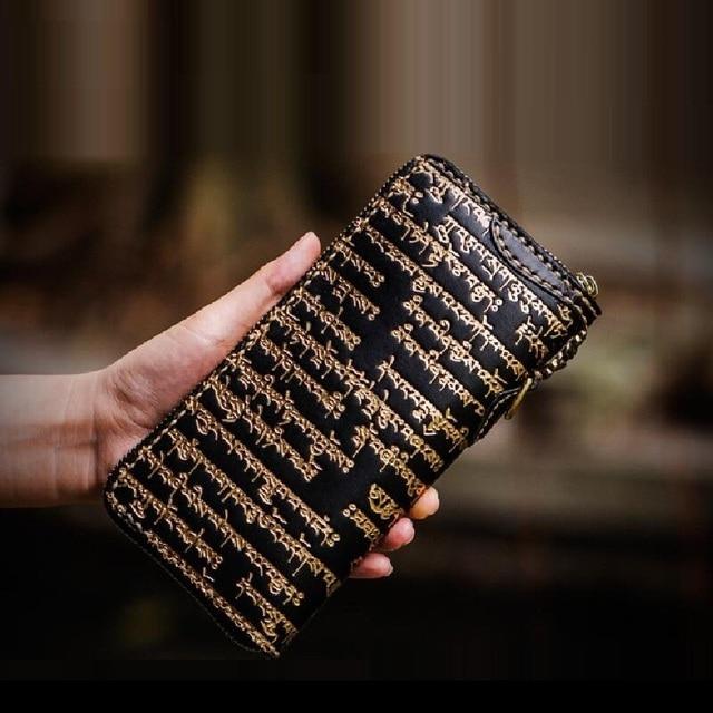 Tibetan Pattern Women's Leather Wallet
