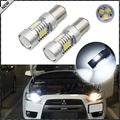 (2) CANbus Error Free Xenon White 21-SMD 1156 LED Bulbs for 2008-2014 Mitsubishi Lancer or Evolution X Daytime Running Lights
