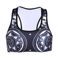 Sexy Tank Tops Women 2017 Fashion Tattoo 3D Retro Tattoo Print Women Lady Soft Padded Bra Workout Clothing Camisole Tank Vest