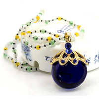 Spot Wholesale Set Auger Apple Necklace Pendant With Dongling Jade Chain Perfume Bottles