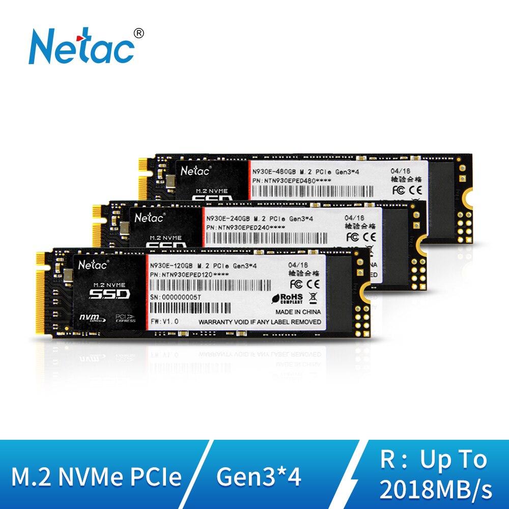 Netac N930E SSD Hard Drive 120GB M.2 NVMe Internal Solid State Drive Gen3*4 PCI E M.2 2280 240GB 480GB Hard Disk For PC Computer
