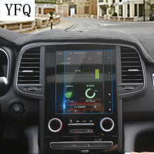 Control instrument panel tempered glass screen protective film HD navigation film fit for 2017 Renault Koleos