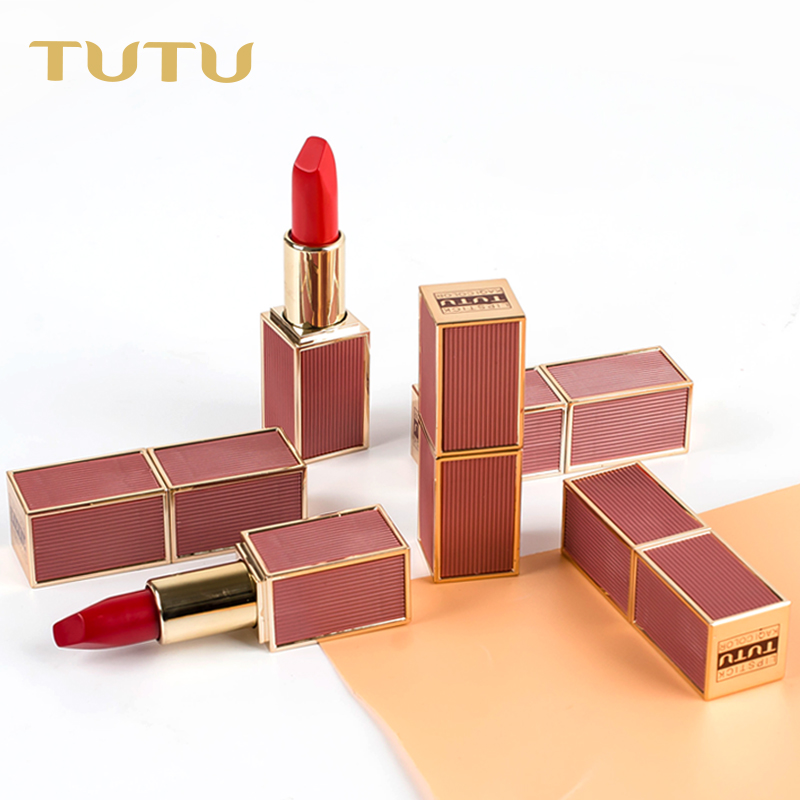 TUTU 6 Color Rose Pure Lipstick Matte Rich Color Lip Stick Long-lasting Moisturizer Batom Makeup Full Rouge Lips