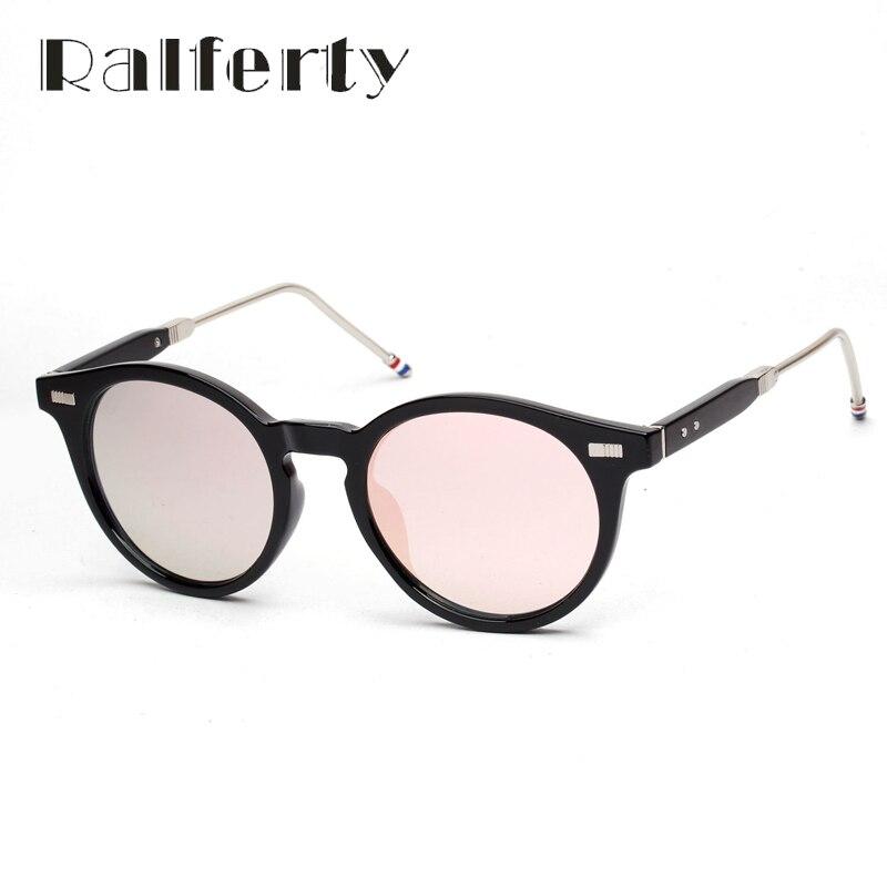 Ralferty moda Vintage Sunglasses mujeres hombres UV400 capa de espejo negro gafas de sol Retro gafas inconformista Oculos lunette 1680
