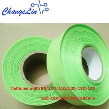 1 mètre 95 100 110 120 130 200 220 mm Fruits Vert Thermorétractable Tube Heatshrink pour le Paquet De Batterie Au Lithium Câble Enveloppe Gainante