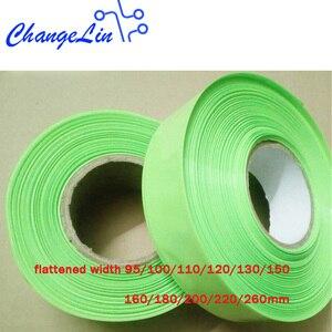 Image 1 - 1 mètre 95 100 110 120 130 200 220 mm Fruits Vert Thermorétractable Tube Heatshrink pour le Paquet De Batterie Au Lithium Câble Enveloppe Gainante