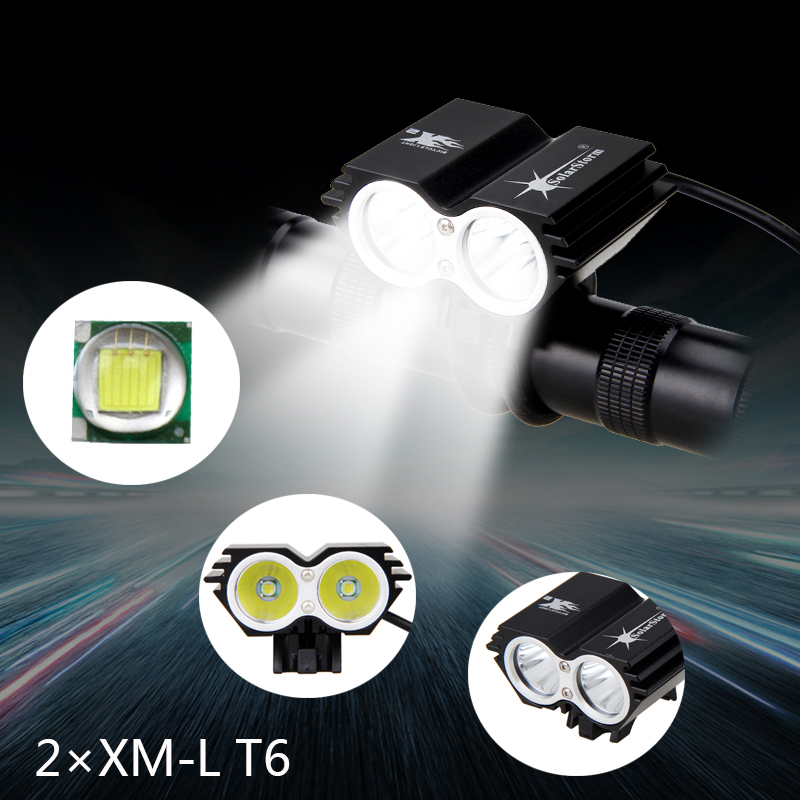 7000Lumens 2x XM-L T6 LED Bike Bicycle Light Front front Cycling Light Led baterka Headlight with battery