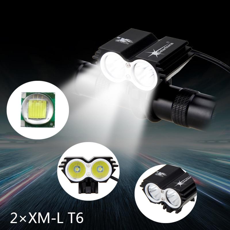 7000Lumens 2x XM-L T6 LED Bike Lights Bicycle Light Front Cycling Light Led Flashlight Headlight With Battery