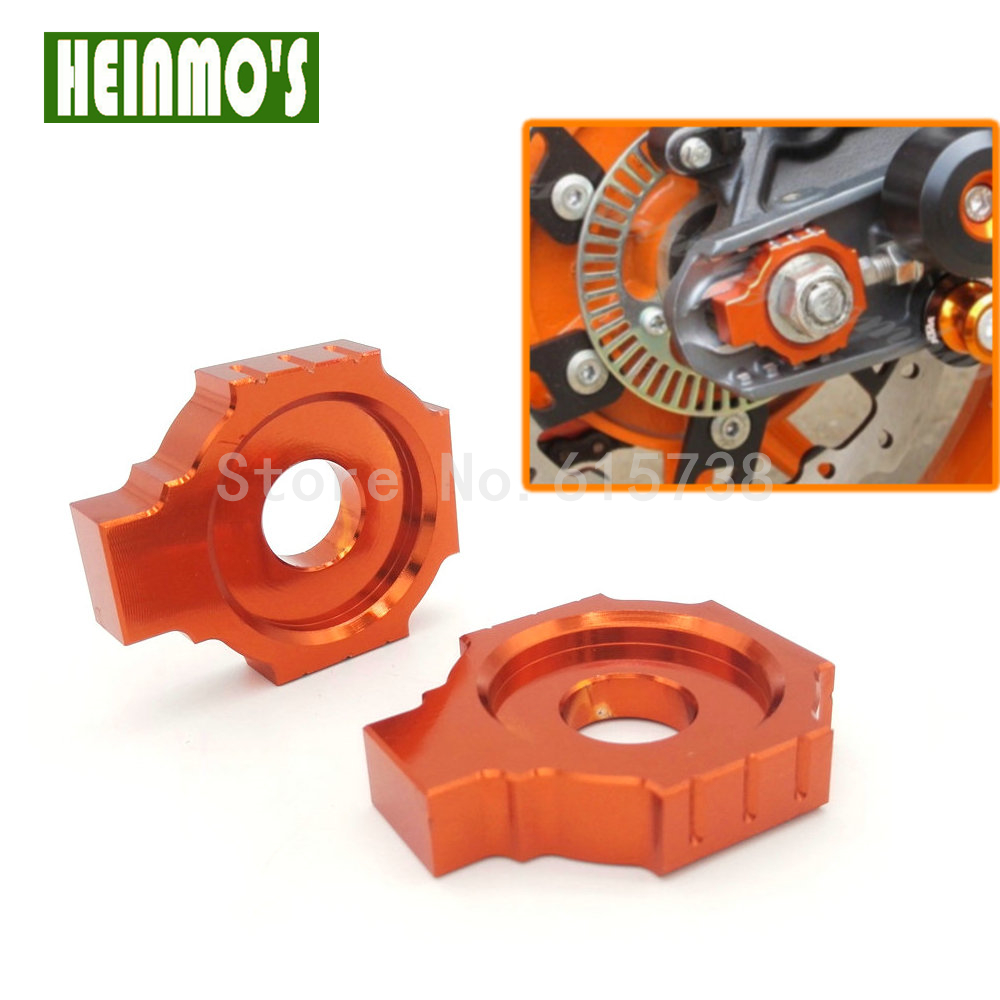New Orange Motorcycle Parts For KTM DUKE 125 200 390 CNC Rear Axle Spindle Chain Adjuster Blocks Fit For RC 125 200 High Quality for ktm 390 duke motorcycle leather pillon rear passenger seat orange color