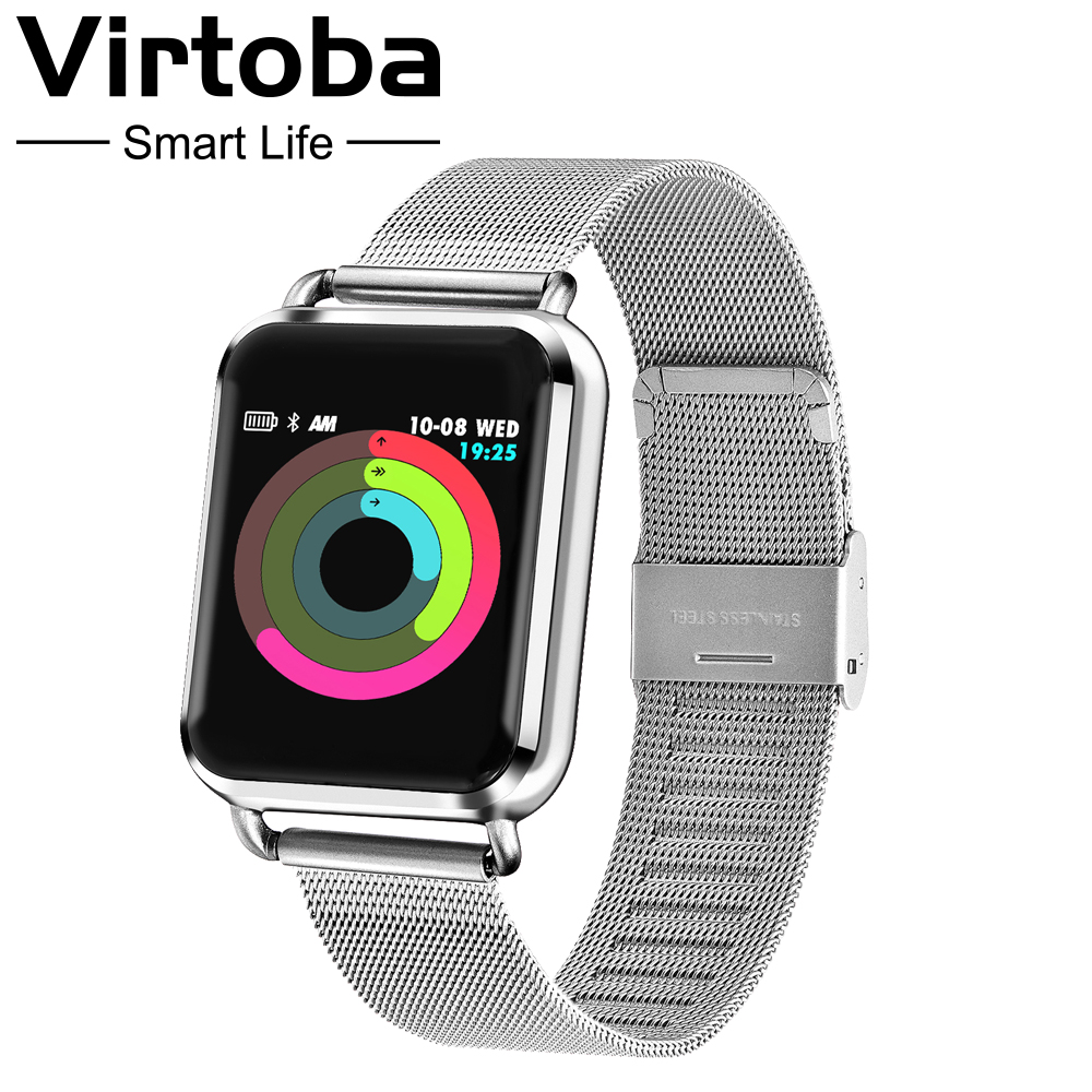 Virtoba S2 Smart Watch Men Women Pedometer Color Smartwatch Blood Pressure Fitness Tracker Heart Rate Monitor UI Watch For APPLE-in Smart Watches from Consumer Electronics