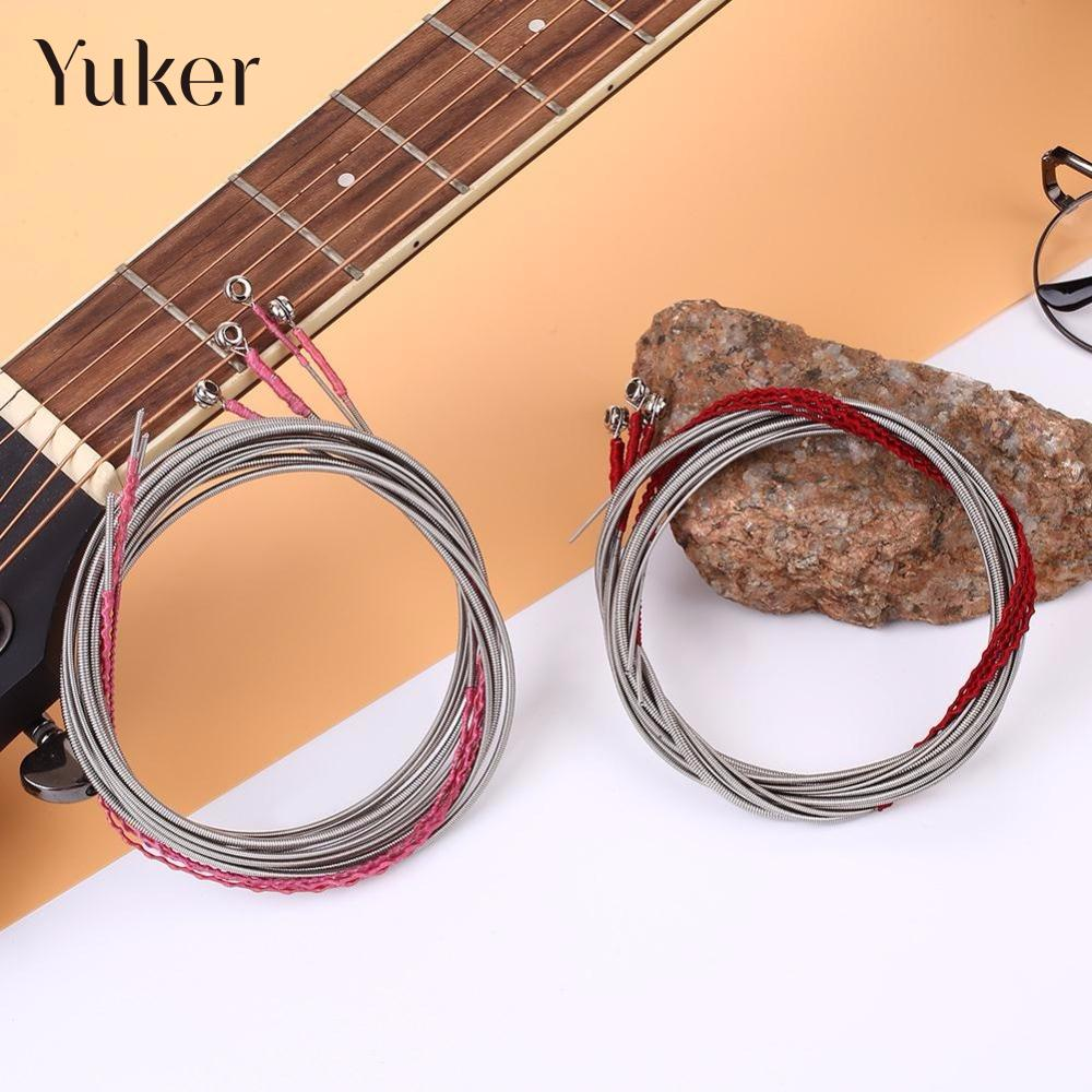 Yuker 4Pcs Steel Strings Nickel Alloy For 4 String Bass Guitar Parts Accessories Kits high quality steel alloy guitar bass jack set silver 2 pcs