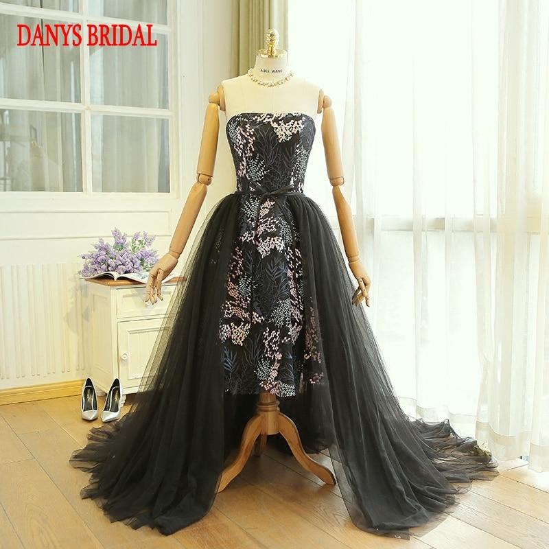 Detachable Skirt Prom Dresses Removable Skirt for Girls kleider Women Formal Evening Dresses for Graduation promkleider