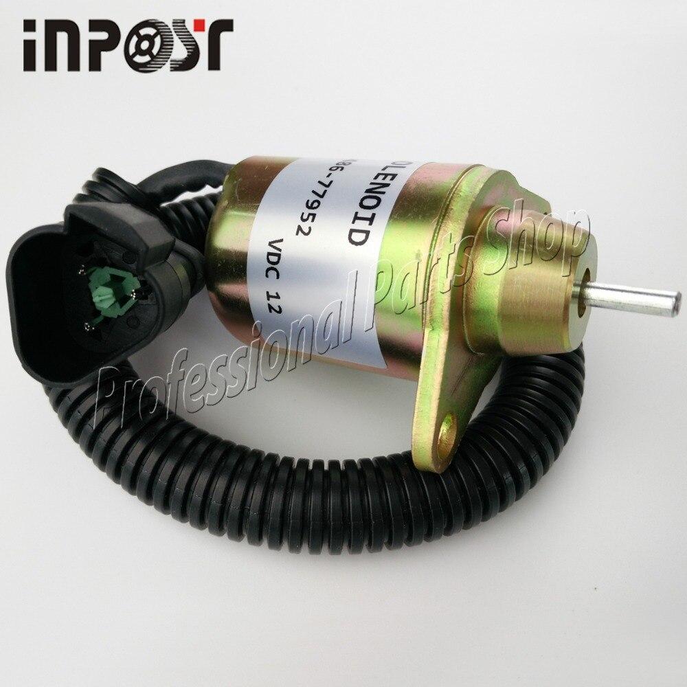 INPOST 1500-3076 1500-3024 12V New Fuel Stop Solenoid For Yanmar