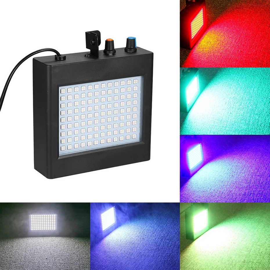 Image 4 - ALIEN Remote 108 LED RGB Strobe Stage Lighting Effect Sound Activated Club Disco Party DJ Holiday With Variable Speed ControlStage Lighting Effect   -