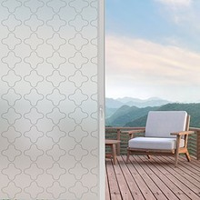Privacy Window Film, Stained Glass Door Static Cling Tint, Removal Decal/Reusable/Heat Control/Anti UV