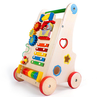 Baby walker early childhood wooden multifunctional cart Child walkers with wheels
