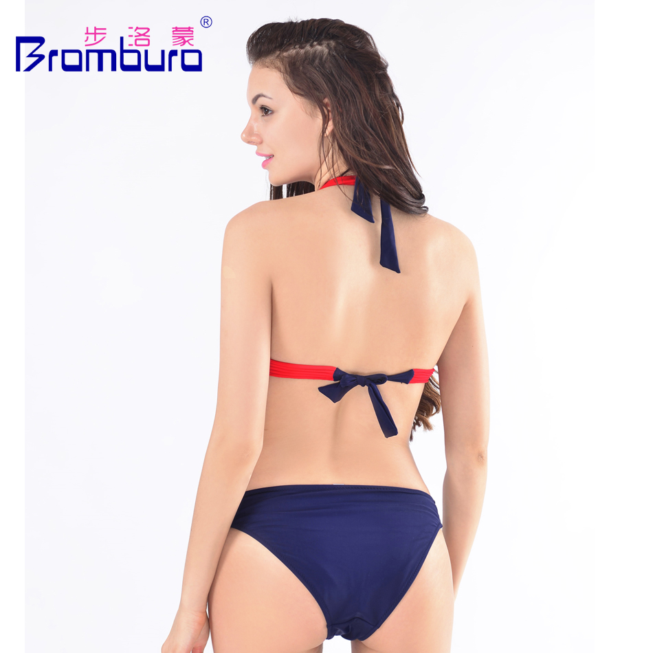 8ded20ab7c4be Sexy Solid Cross Bandage Bikini Women Swimwear Lure Scrunch Low Waist  Swimming Suit Black Chic Bottom Halter Bikini Bathing Suit-in Bikinis Set  from Sports ...