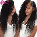 Brazilian Deep Wave Curly Virgin Hair 7A Brazilian Deep Wave 4 Bundles Brazilian Virgin Hair Deep Curly  Human Hair Weaves