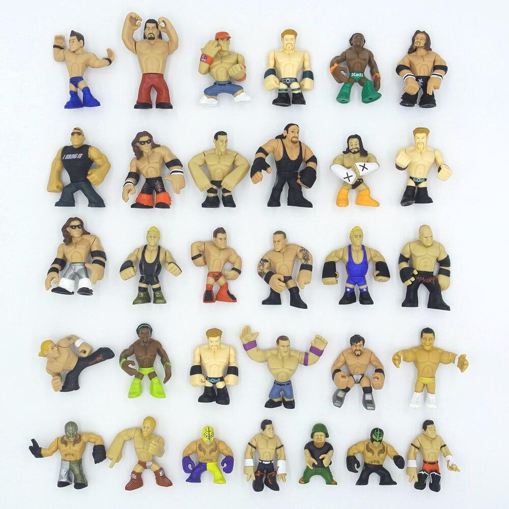 31 teile/los Q version juguetes Amerika beruf wrestling gladiatoren wrestler action figur spielzeug Sammlung von wrestling hobby-in Action & Spielfiguren aus Spielzeug und Hobbys bei  Gruppe 1