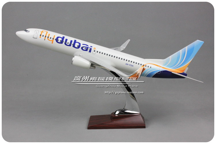 40cm Resin B737-800 Dubai Airlines Airplane Model FlyDubai Boeing 737 A6-FDA Aircraft Airways Airbus Model Aviation Scale 1:100 40cm resin aircraft model boeing 737 nigeria airways airplane model b737 med view airbus plane model stand craft nigeria airline