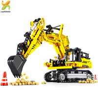 841pcs Technic Engineering Excavator Building Blocks Technic Truck Construction Assembled Educational Brick Toys For children