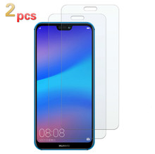 XINDIMAN 2pcs tempered Glass on For huawei P smart 9H 2.5D protector for P10 P10lite P20 P20lite P30 P30lite honor 8X 10