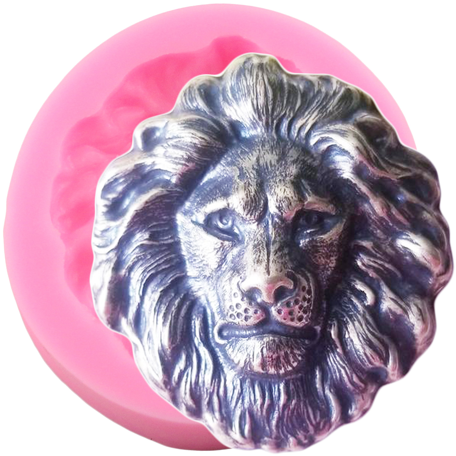 3D Lion Head Silicone Molds Animals Chocolate Candy Fondant Mold  DIY Part Fondant Cake Decorating Tools Resin Clay Soap Moulds