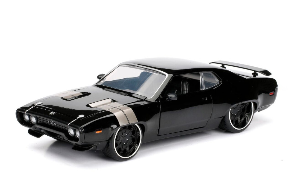 Jada 1:24 FAST & FURIOUS 8 F8 DOM'S PLYMOUTH GTX Diecast Model Racing Car Black NEW IN BOX