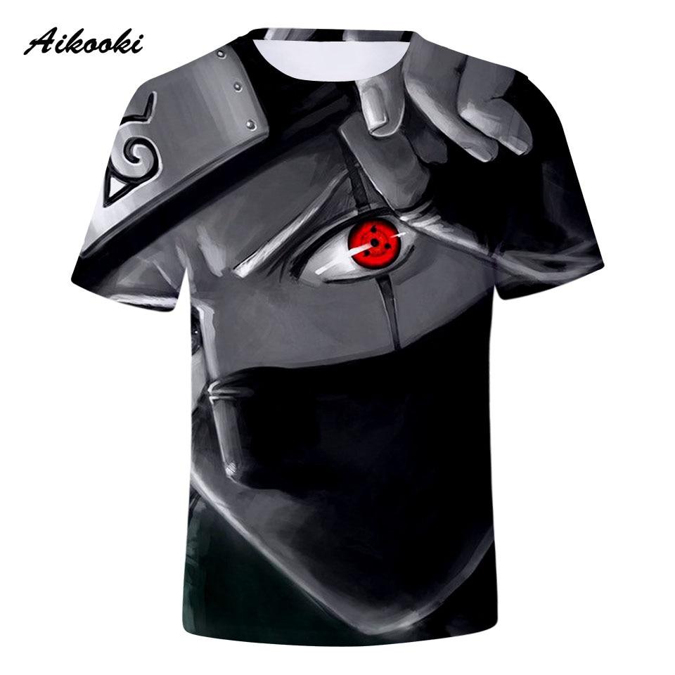 Aikooki Famous Naruto 3D   T     Shirts   Fashion Men/Women   T     Shirt   Cotton Short Sleeve   Shirt   Top Tees Boys/Girls   T  -  shirt   Red Eye Naruto