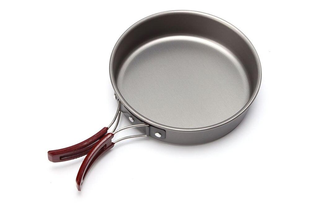 1.7л 20 см Открытый сковорода горшок ультра-светильник из твердого алюминиевого сплава набор посуды для пикника Кемпинг посуда Сковорода Кем...