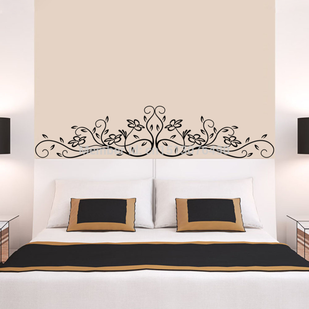 Hot Selling Vine Flower Floral 3d Wall Stickers Decal Art PVC Home Bedroom Decor In From Garden On Aliexpress