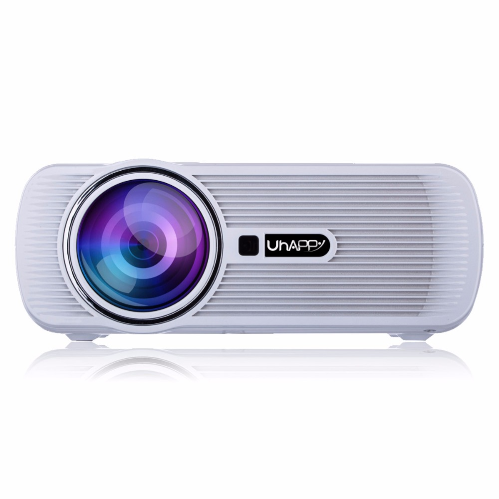 U80 Plus Projector 2000 lumens Portable Home Office HD Uhappy LED Proyector Android 6.0 WIFI Smart LCD  1080P Video Media Player home cinema entertainment hd pocket projectors android smart mobile wifi projector mini office