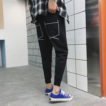 2018 Spring And Summer New Youth Casual Feet Fashion Trend Wild Men's Self-cultivation Solid Color Nine Pants British Style