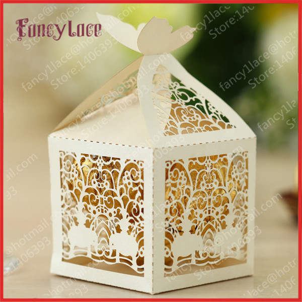 50pcs Diy Creative Laser Cutting Indian Elephant Wedding Sweet Bo Chocolate Customized For Party