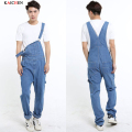 2016 New Arrival Mens Jeans Loose Bib Overalls Cotton Plus Size 26-42 Fashion Denim Jumpsuit Men Wholesale & Retail