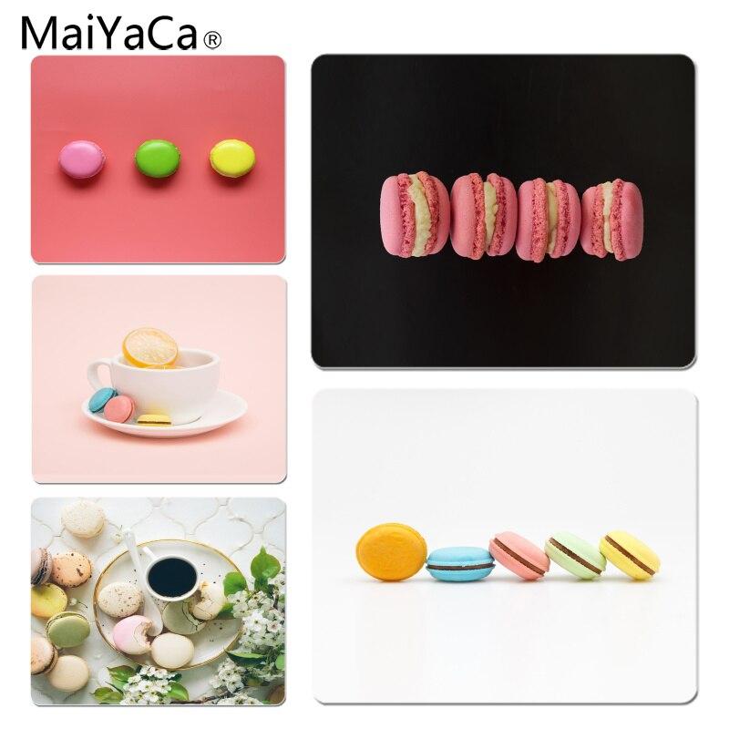 MaiYaCa Macarons Colorful Yummy Cake DIY Design Pattern Game mousepad Size for 25x29x0.2cm Gaming Mousepads