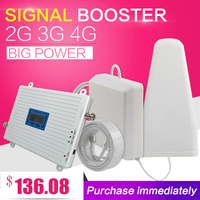 2G 3G 4G Triple Band Cell Phone Signal Booster 65dB GSM 900 LTE 1800 WCDMA 2100