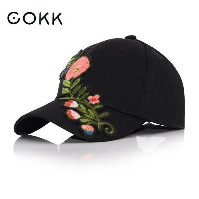 Gorra de béisbol de flores de COKK para mujeres gorras de Snapback Floral  para mujeres Vintage eb3cb79f594
