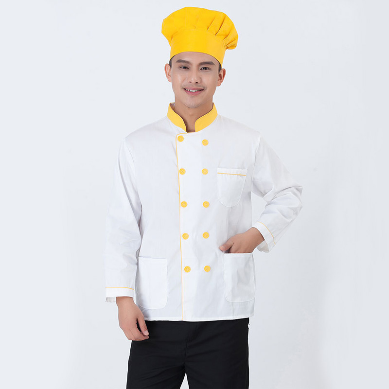 Kitchen Chef Jacket Uniforms Long Sleeve Cook Clothes Food Services Frock Coats Work Wear Restaurant Man Chef Jacket