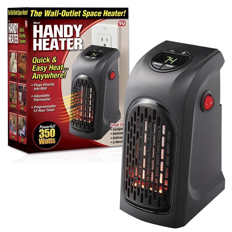 400W Electric Handy Heater With Mini Plug Wall Mount Radiator Warmer Machine for Winter As Seen On TV spa массажер as seen on tv sonic